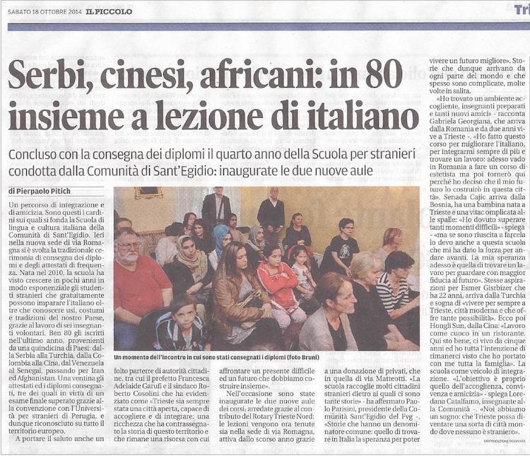 service pro comunità Sant'Egidio